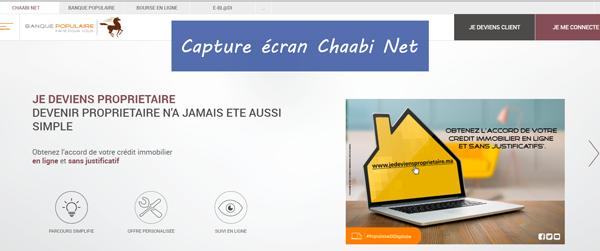 Chaabi Net : connexion sur le site bpnet.gbp.ma