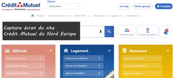 www.cmne.fr : site du crédit mutuel du nord europe