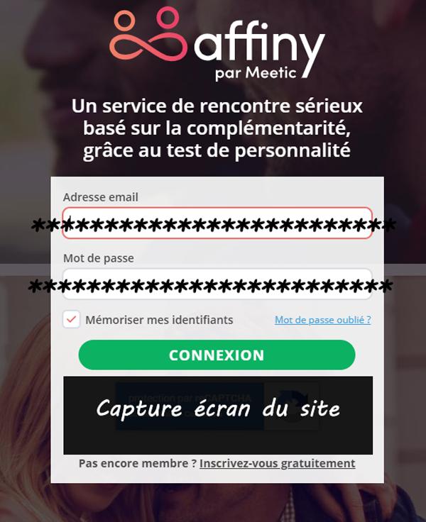 Meetic Affinity Mon compte : les étapes de connexion