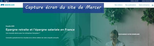 www.mercer.fr : site de Mercer Mutuelle