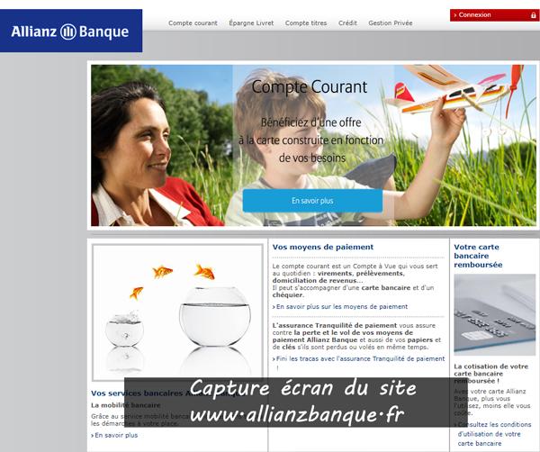 www.allianzbanque.fr : site de la banque allianz
