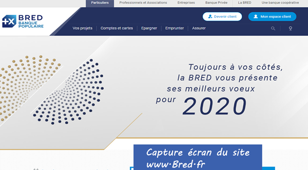 www.bred.fr : site de connexion à mon compte bred