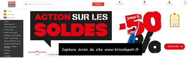 www.bricodepot.fr : site d'accès sur Brico Dépôt