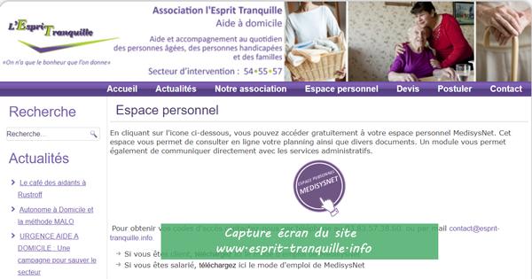 www.esprit-tranquille.info : site de l'association