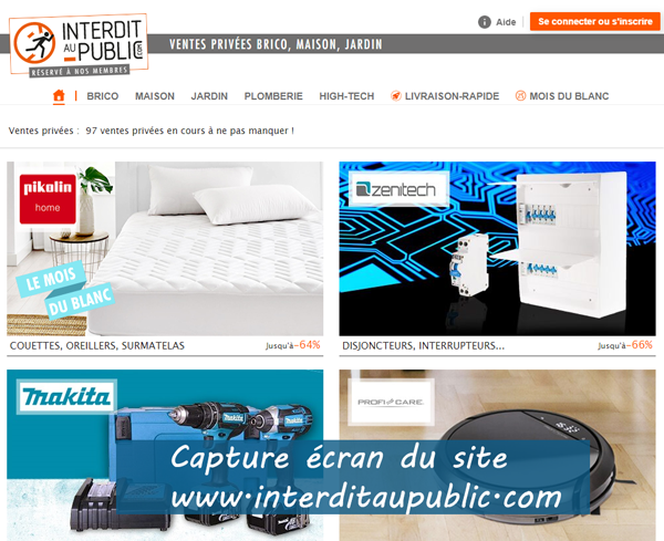 www.interditaupublic.com : site de vente