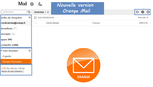 nouvelle version messagerie orange mail