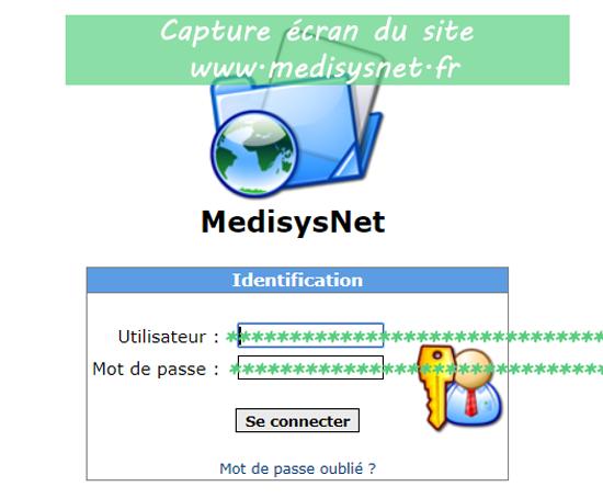 la démarche de connexion à MedisysNet