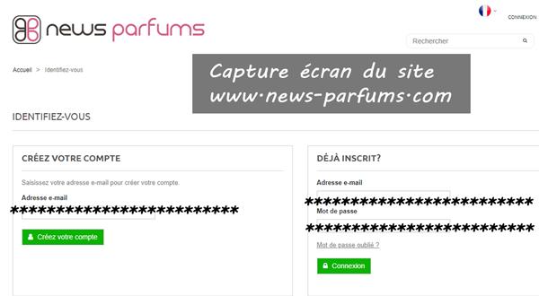 News Parfums mon compte : comment accéder sur le site?