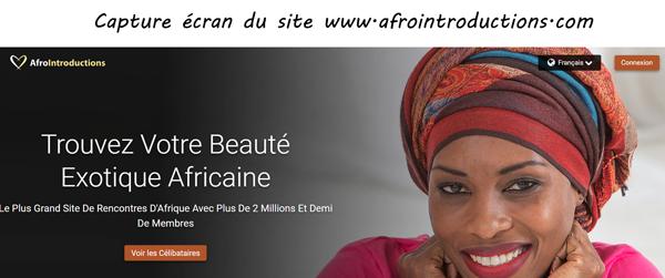 AfroIntroduction.com : site de rencontre en afrique