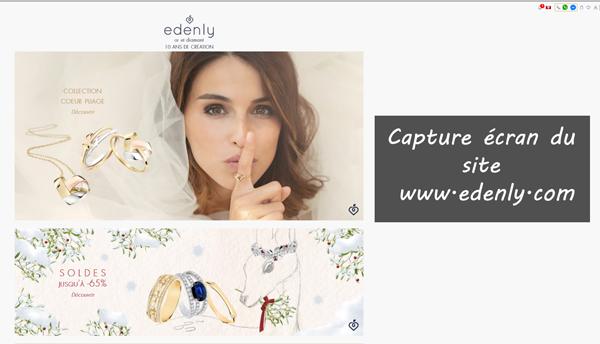 site de la bijouterie en ligne : www.edenly.com