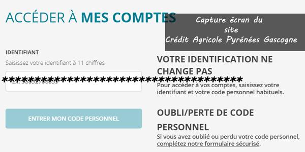 se connecter à l'espace client Crédit Agricole Pyrénées Gascogne