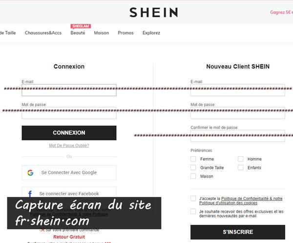 Shein Suivi Commande, Mon compte : les étapes de connexion