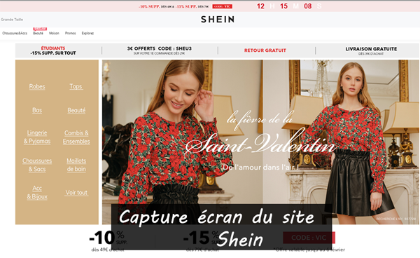 site de la boutique en ligne www.fr.shein.com