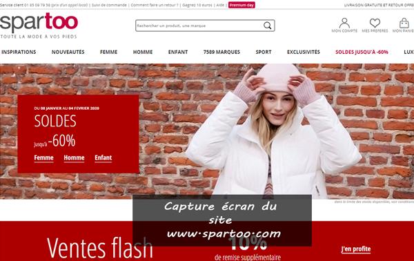 www.spartoo.com : boutique de mode