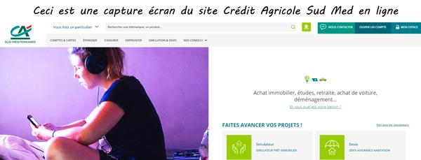 site de Crédit Agricole Sud Med en ligne