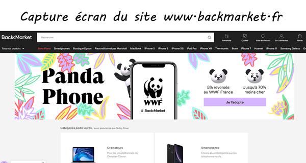 site de reconditionnement www.backmarket.fr