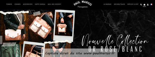 www.paulmarius.fr : site de vente de sac