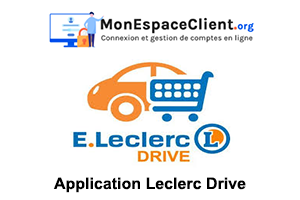 télécharger l'application Leclerc Drive