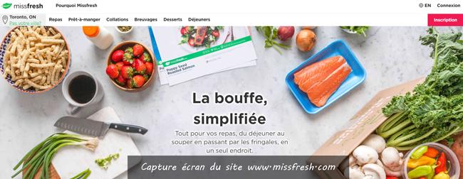site de livraison de repas Missfresh.com