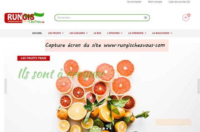 www.rungischezvous.com : portail de vente de produit frais