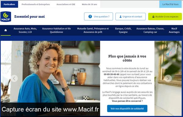 le site du groupe macif : www.Macif.fr
