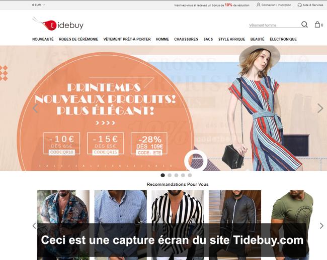 Tidebuy.com : site de prêt à porter chinois pas cher