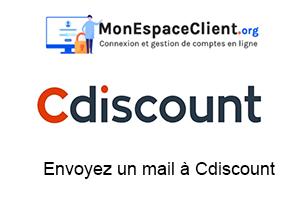 envoyer un mail à Cdiscount
