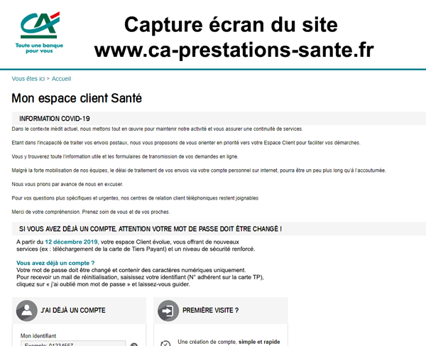 www.ca-prestations-sante.fr : le site de pacifica