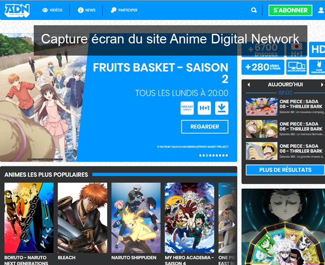 site Anime Digital Network