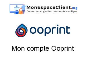 connexion à Mon compte Ooprint
