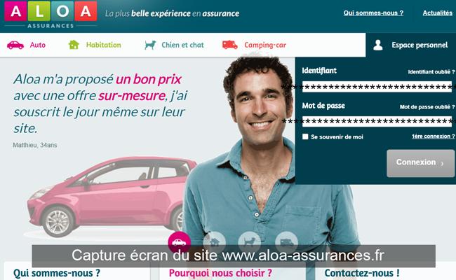le site aloa-assurances