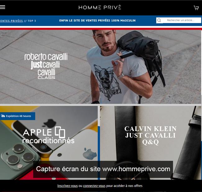hommeprive.com: le site de ventes privées pour homme