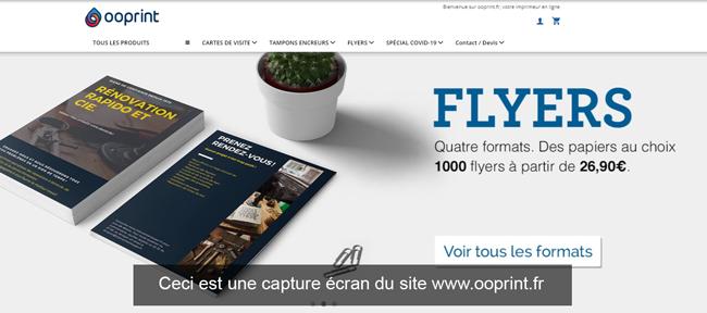 ooprint.fr : site d'impression en ligne