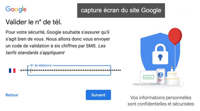 créer un compte gmail sur mon portable