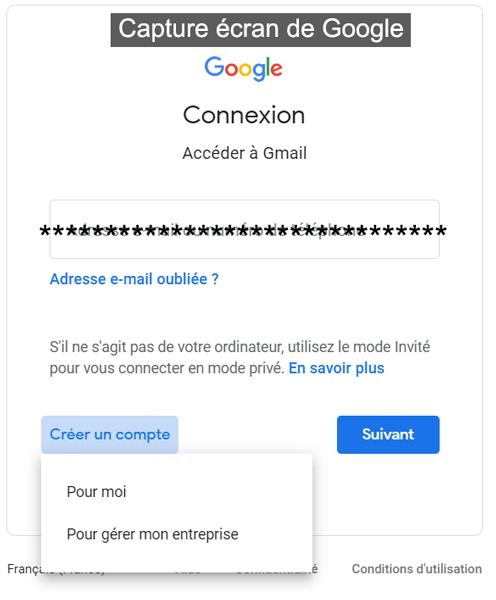 créer un compte gmail gratuitement