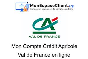 mon Compte Crédit Agricole Val de France en ligne