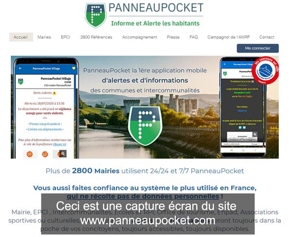 www.panneaupocket.com : le site pour se connecter à mon compte