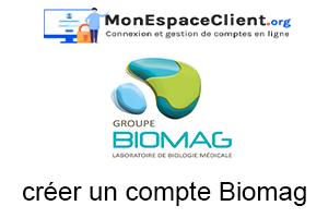 Créer un compte Biomag