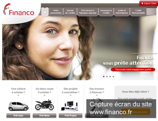 www.financo.fr : le site de financo france