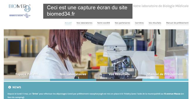 créer un compte Biomed34.fr