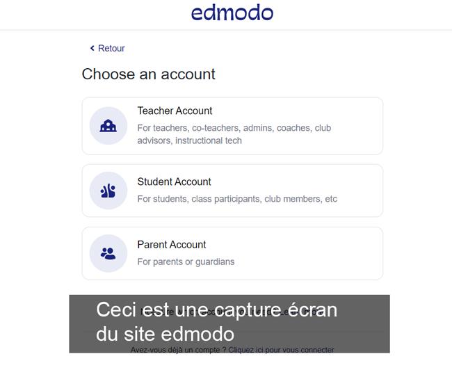 créer un compte edmodo