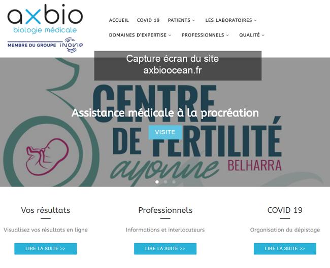 le site du laboratoire : www.axbioocean.fr