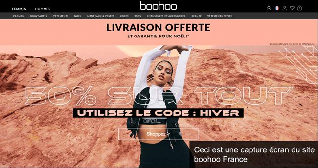 le site de boohoo France pour passer des commandes