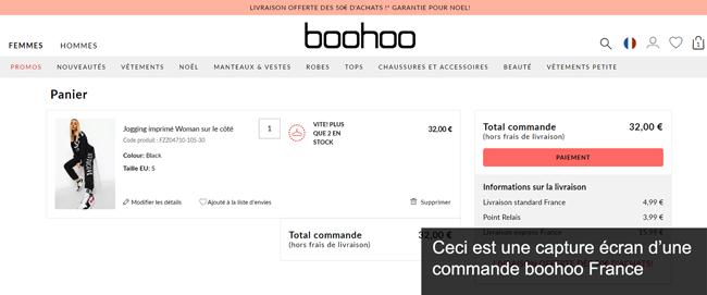 mes commandes boohoo.com