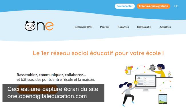 se connecter à un compte one sur le site wwwe.opendigitaleducation.com