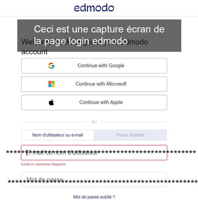 EDMODO login et connexion