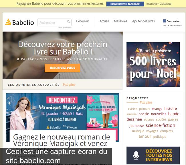 s'inscrire sur le site babelio.com