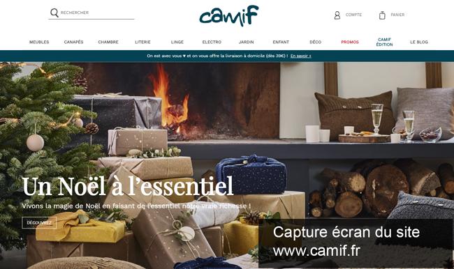 se connecter à mon compte camif sur le site www.camif.fr