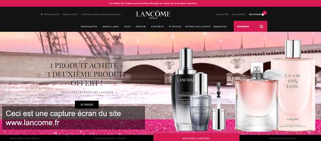 www.lancome.fr : le site officiel de Lancôme Paris