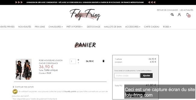 passer une commande sur foly-fring.com